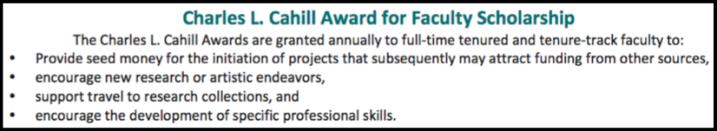 Cahill Award